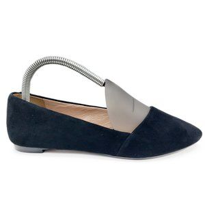 Madewell Suede Leather Mira Pointed Toe Flats